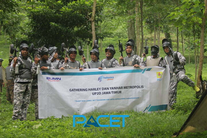 paintball pacet adventure bersama PT Haleyora Power Surabaya